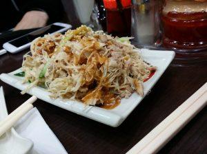 山東餃子館で棒々鶏