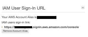 Sign In URL にAliasを設定