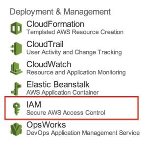 AWS Management ConsoleからIAM に入る部分