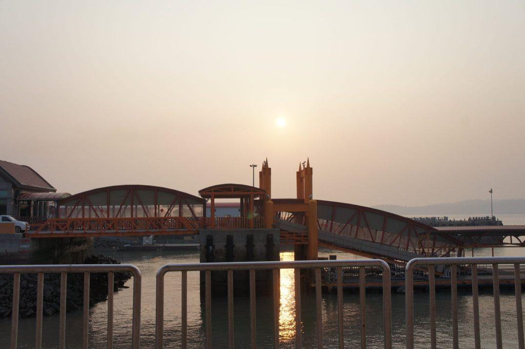 金門島での夕日