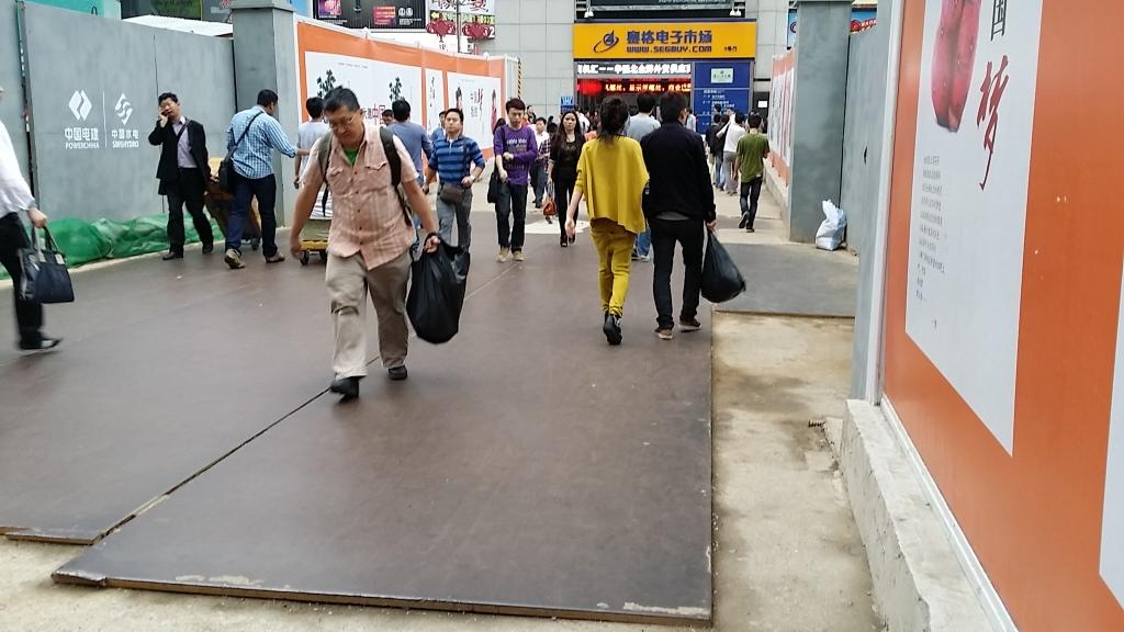 華強北の地下鉄工事現場