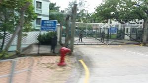 九龍塘の人民解放軍駐屯地