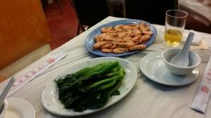 芥蘭菜と海老