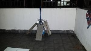 アンテナの釣竿の固定方法