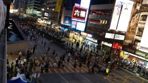 彌敦道・旺角道の交差点