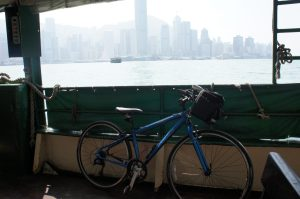 Star Ferry 灣仔行き Lower deck