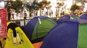 彌敦道のテント