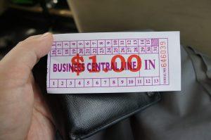 ミニバスのチケット