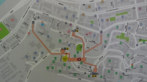 香港大学站 地図