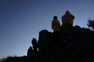 獅子山頂、既に人がいっぱい