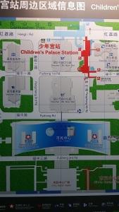 深圳少年宮の地図
