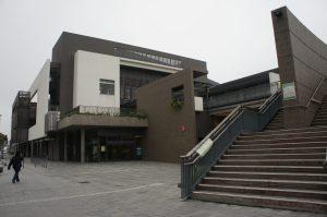 中山紀念公園のプールの建物