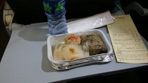 香港エクスプレス航空の機内食の点心セット
